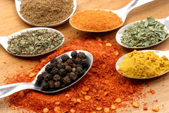 Seven spices Royalty Free Stock Photography
