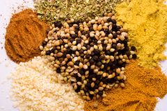 Seven spices Royalty Free Stock Photo