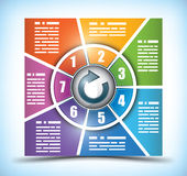 Seven stage color changing workflow chart Royalty Free Stock Photography