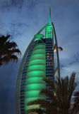 Seven stars luxury hotel Burj Al Arab Royalty Free Stock Photo