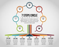 Seven Steps Circle Infographic Royalty Free Stock Images