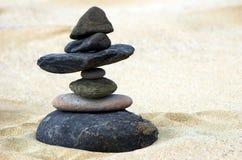 Seven stones. In perfect balance Stock Photos