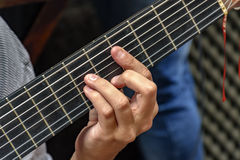 Seven string guitar Stock Image