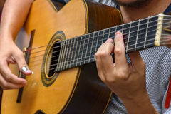 Seven string guitar Stock Photography