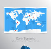 Seven Sumits Royalty Free Stock Image