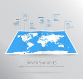 Seven Summits Stock Images