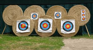 Seven targets Royalty Free Stock Image