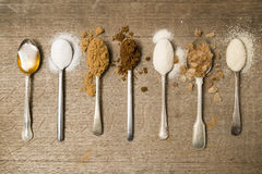 Seven teaspoons of sugar a day Royalty Free Stock Photo