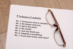 Seven techniques of leadership Stock Photography