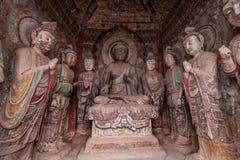 Seven temples Buddha Grottoes in Tianshui Maijishan Royalty Free Stock Photos