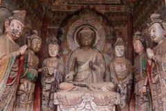 Seven temples Buddha Grottoes in Tianshui Maijishan Stock Photography
