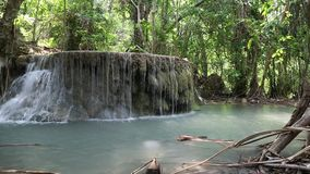 Seven-tiered Erawan Waterfall in Erawan National Park, western Thailand stock video
