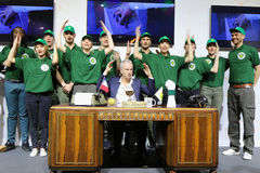 Seven times Grand Slam champion John McEnroe presents We are tennis program during press conference at Roland Garros Royalty Free Stock Photography
