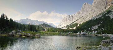 Seven Triglav lakes valley in Julian Alps Stock Image