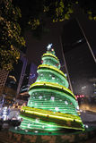 Seven Up bottle Christmas tree at night Stock Photography