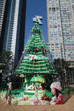 Seven Up Christmas tree in shanghai Royalty Free Stock Photography