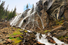 Seven Veils Falls, Lake O'Hara, Yoho National Park, Canada Stock Images