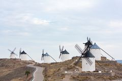 Seven windmills in Consuegra Royalty Free Stock Images