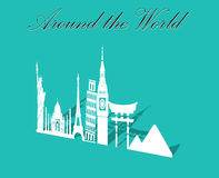 Seven wonders of World, Travel and tourism background around the world. Vector eps10 Stock Photography