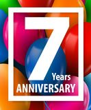 Seven years anniversary. 7 year. Greeting card or banner concept. Vector illustration vector illustration
