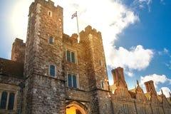 Sevenoaks老英国豪宅15世纪 经典英国国家边房子 英国 免版税库存照片
