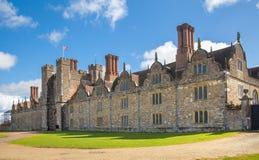 Sevenoaks老英国豪宅15世纪 经典英国国家边房子 免版税库存照片