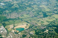 Sevenoaks Quarry, aerial view Stock Images