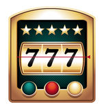 Sevens. Jackpot sevens on a casino machine royalty free illustration