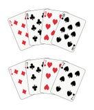 Sevens e póquer dos eights Fotos de Stock