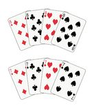 Sevens and eights poker. Sevens and eights double poker illustration Stock Photos
