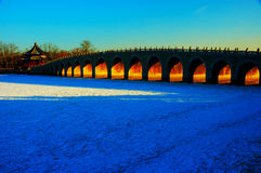 Seventeen Arch Bridge Royalty Free Stock Photography