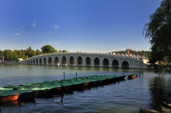 Seventeen Arch Bridge. The Summer Palace in Beijing, China Seventeen Arch Bridge Royalty Free Stock Images