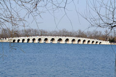The Seventeen-Arch Bridge. At The Summer Palace in Beijing China Royalty Free Stock Photography