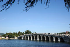 Seventeen-arch bridge in summer palace Stock Photography