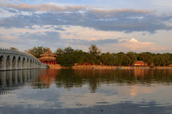 Seventeen Arch Bridge in Summer Palace Stock Photography