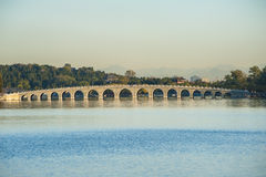 Seventeen-Arch Bridge in Summer Palace Stock Images