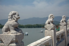 The Seventeen-arch Bridge in the Summer Palace, Beijing, China Royalty Free Stock Photography