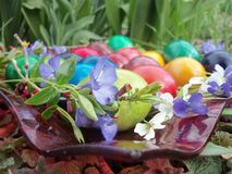 Our Easter eggs in 2015 royalty free stock photos