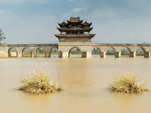 Seventeen span brige Jianshui, China Royalty Free Stock Image
