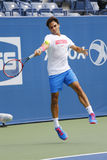 Seventeen times Grand Slam champion Roger Federer practices for US Open 2014 Royalty Free Stock Photo