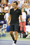 Seventeen times Grand Slam champion Roger Federer after victory at round 4 match at US Open 2014 Royalty Free Stock Images