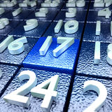 Seventeenth calendar day Stock Photography