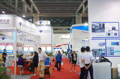 The seventeenth China International Optoelectronic Expo, held in Shenzhen Convention and Exhibition Center. The exhibition attracted more than 3000 domestic royalty free stock photos