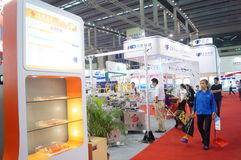 The seventeenth China International Optoelectronic Expo, held in Shenzhen Convention and Exhibition Center Stock Image