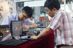 The seventeenth China International Optoelectronic Expo, held in Shenzhen Convention and Exhibition Center Royalty Free Stock Photo