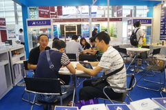 The seventeenth China International Optoelectronic Expo, held in Shenzhen Convention and Exhibition Center Stock Photos