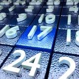 Seventeenth kalendarzowy dzień Fotografia Stock