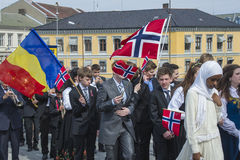 Seventeenth of may, norway's national day. Norwegian Constitution Day is the National Day of Norway and is an official national holiday observed on May 17 each Royalty Free Stock Image