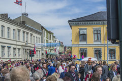 Seventeenth of may, norway's national day. Norwegian Constitution Day is the National Day of Norway and is an official national holiday observed on May 17 each Stock Images