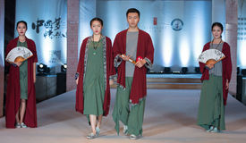 The seventeenth series of Confucianism-Fashion Show. On the afternoon of March 20, the third session of the Red Square World Chinese clothing design competition Royalty Free Stock Photo